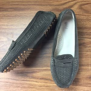 J Jill Suede Driving Moccasins 6.5 Brown Loafers